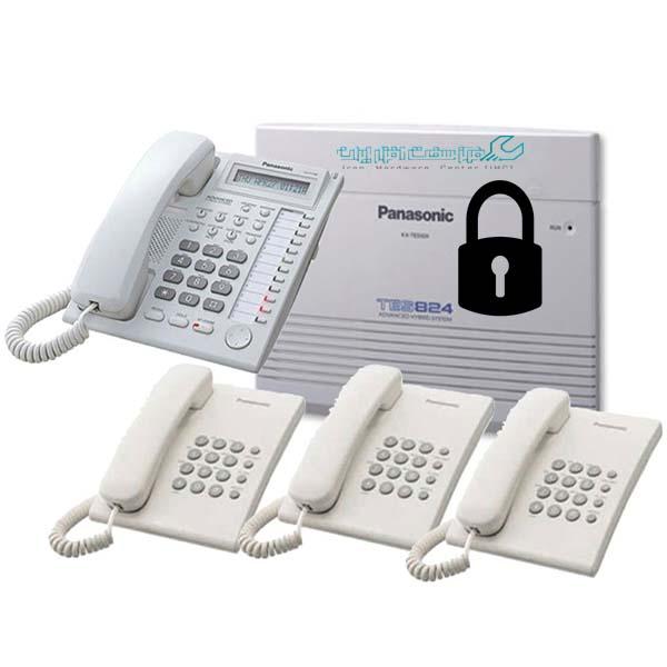 قفل کردن تلفن سانترال پاناسونیک